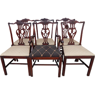 Chippendale set of 6 chairs