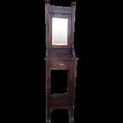 Antique victorian eastlake tall shaving mirror