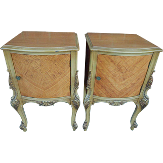 Antique pair of french nightstands