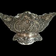 Antique Cherub Sterling Silver Centerpiece Hanua Marks English Import Marks 1892