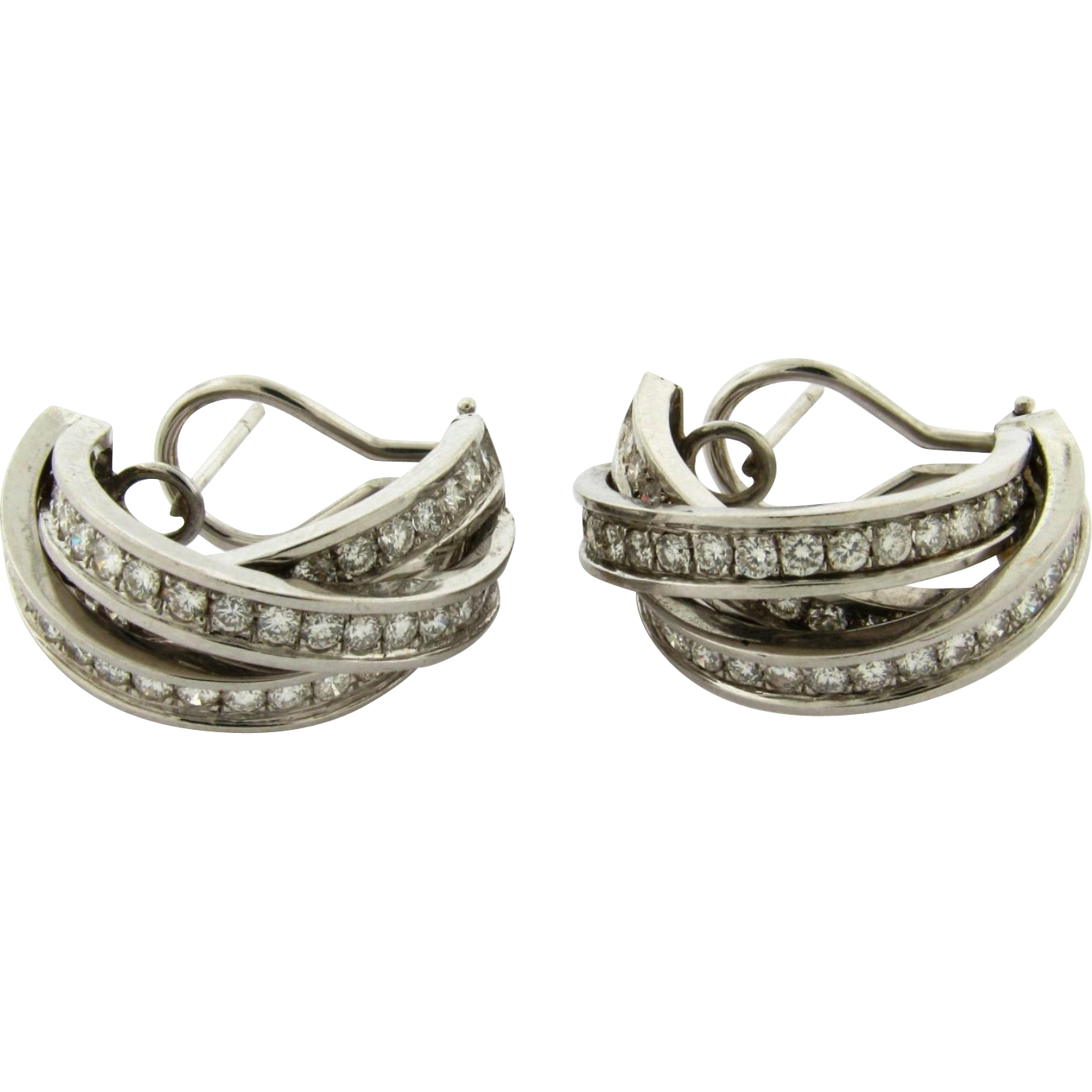 24 carat gold earrings vintage 18k white gold 3 24 carat earrings quot half 7633