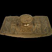 Antique Tiffany Studios American Indian Dore Bronze Ink Blotter