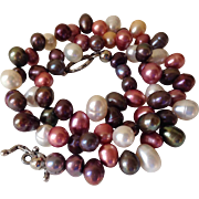 Multi-Color Cultured Freshwater Pearl Necklace