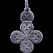 Antique Ethiopian Coptic Hinged Cross Pendant