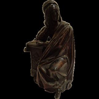 Antique Bronze Figure of Gentleman Writer, Explorer, Dreamer