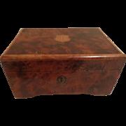 Vintage Burl Walnut Swiss Thorens Music Box Barcellona & Coming Through The Rye