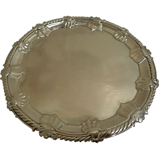 Antique Sterling Silver Salver Tray 1757