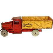 Vintage Metalcraft Pressed Steel Sunshine Biscuit Truck c.1930's