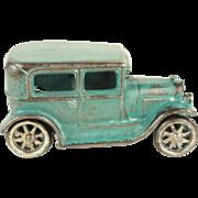 Vintage Arcade Cast Iron Light Blue Sedan c. 1930's