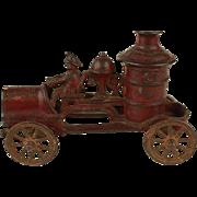 Vintage Kenton Cast Iron Fire Pumper c.1930's