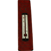 Vintage Advertising Leather Thermometer for Canadian Club Whiskey