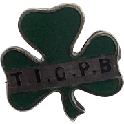 Vintage Sterling Clover Pin