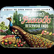 Vintage Dean's Peacocks Condoms Tin - NOS