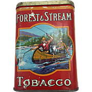 Forest and Stream Pocket Tobacco Tin - Canoe Version
