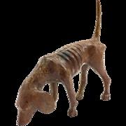 Folk Art Carving of a Hound Dog