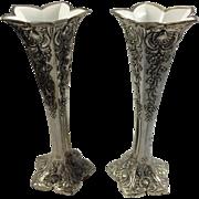 Vintage Condisco E.P. Antimony Vases
