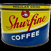Vintage Shurfine Coffee Tin