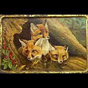 """Vintage """"Fox"""" Tin"""