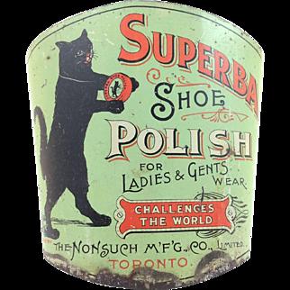 Superba Shoe Polish Advertising Broom Holder c.1910