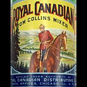 Royal Canadian Tom Collins Mixer Bottle