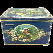 Vintage Songbird Biscuit Tin