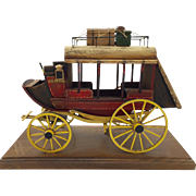 U.S. Mail Stagecoach Wooden Model