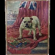 Gillette Canada Oilette on Canvas c.1940