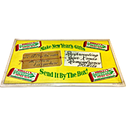 1949 Wrigley's Spearmint Gum Cardboard Sign