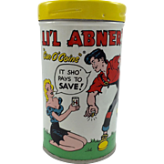 "1953 LI'l Abner's ""Can o Coins"" Bank"