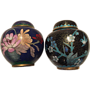 A pair of cloisonné urns