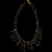 Beautiful BLACK CORAL Vintage Necklace