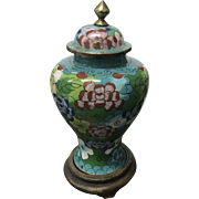 Old Chinese Cloisonné Covered Vase