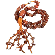Beautiful Nature Red Carnelian Nuggets Beaded Necklace 19 Inches