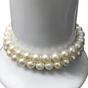 Vintage 14KS South Sea Cultured Pearls Choker Necklace 14.5 Inches