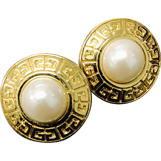 Givenchy Classic Clip Earrings with Faux Pearls