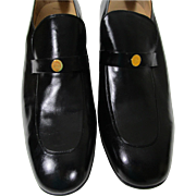 RARE Mens CHRISTIAN DIOR Shoes Loafers Size 10.5 Dress Blk Leather Spain w Box