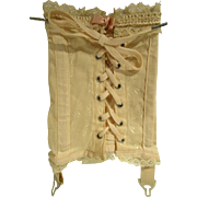 """Doll Corset 8"""" Boned Lace-up with Garter Belts"""