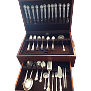 "65 Pc Gorham Sterling ""Secret Garden"" Flatware Set with Wood Box Silverware EXCELLENT"