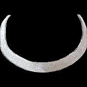 Silver Tone Mesh Necklace Essex of Canada Vintage