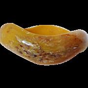 Golden Honey with Caramel Splash Wavy Bangle Vintage