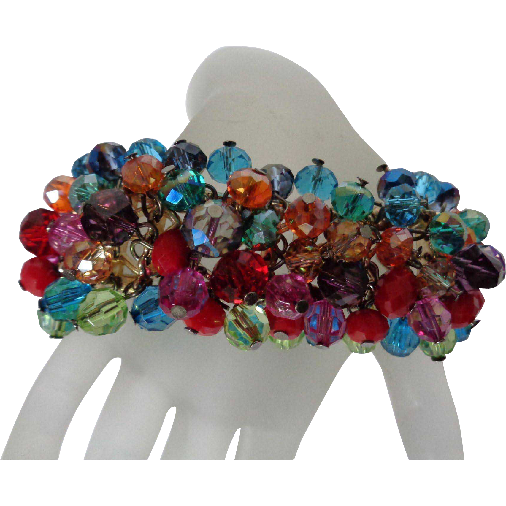 Cha Cha Bracelet Multi Colored Beads Vintage From Color Me