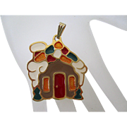 Gingerbread House Pendant by Wallace Silversmiths Vintage