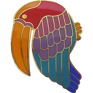 Toucan Pin Pendant Laurel Burch Vintage