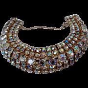 Stunning AB Rhinestone Bracelet Vintage