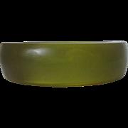 Olive Green Lucite Bangle Vintage