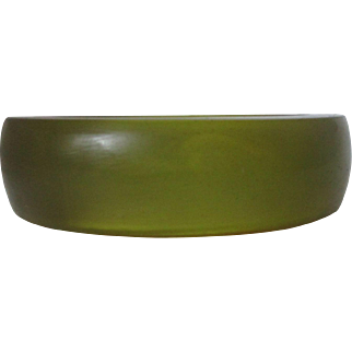 Olive Green Lucite Bangle Vintage