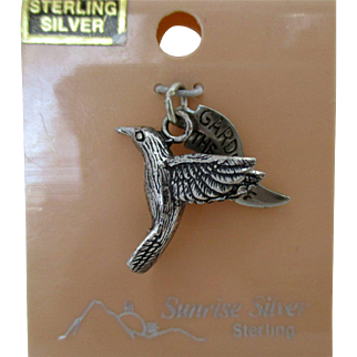 Sterling Bird and Banner Garden of the Gods Charm Vintage