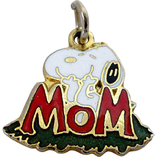 Snoopy Mom Charm Cloisonne Style 1958