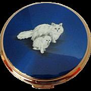 Rare Stratton Persian Cat Compact Vintage
