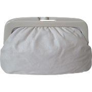 Italian Made Pure White Leather Handbag Vintage